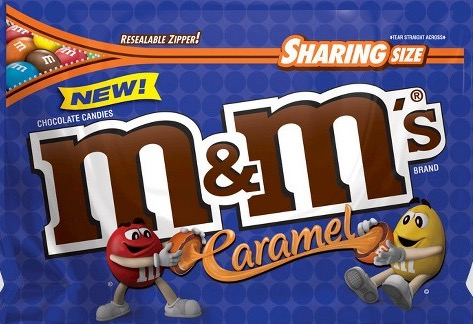 M & M CARAMEL SHARE SIZE BOX/24