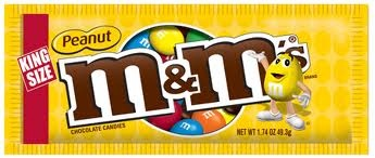M & M PEANUT KING SIZE BOX/24