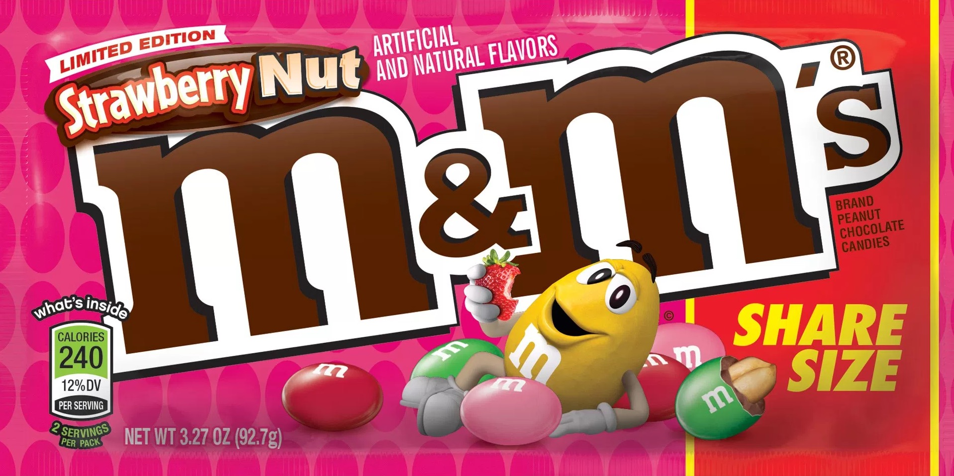 M & M STRAWBERRY PEANUT KS