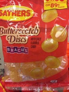 SATHERS BUTTERSCOTCH DISCS 2/$1.50