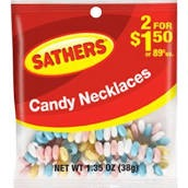 SATHERS CANDY NECKLACES 2/$1.50