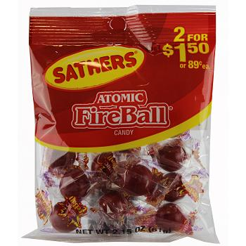SATHERS ATOMIC FIREBALL 2/$1.50