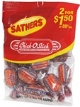 SATHERS CHICK-O-STICK 2/$1.50