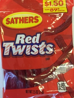 SATHERS RED TWIST 2/$1.50