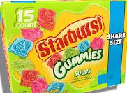 STARBURST SOUR GUMMIES SHARE BOX/15
