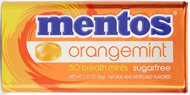MENTOS MINTS ORANGE BOX/12