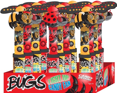 NOVELTY LIGHT UP BUG FAN BOX/12