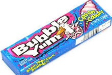 BUBBLE YUM COTTON CANDY BOX/18