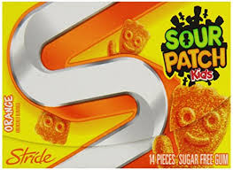 STRIDE SOUR PATCH ORANGE BOX/12