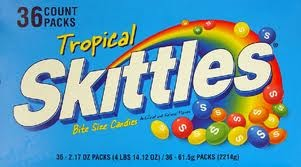 SKITTLES TROPICAL BOX/36