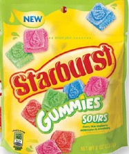 STARBURST GUMMIES SOUR PEG 8/8 OZ