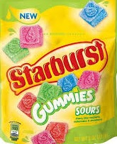STARBURST GUMMIES SOUR PEG 12/5.8OZ