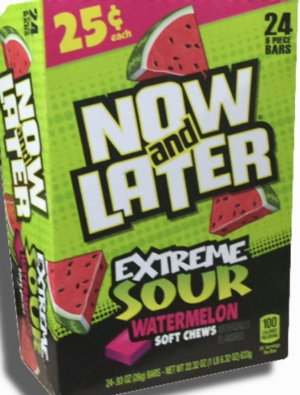NOW OR LATER XTREME SOURS BOX/24