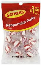 SATHERS PEPPERMINT PUFFS 2/$1.50