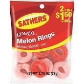 SATHERS MELON RINGS 2/$1.50