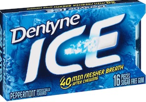 DENTYNE ICE PEPPERMINT 16 PIECES