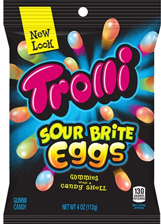 TROLLI SOUR BRITE EGGS 12/4 OZ