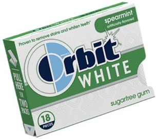 ORBIT WHITE SPEARMINT SOFT GUM 9 CNT