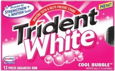 TRIDENT WHITE BUBBLE GUM BX/9