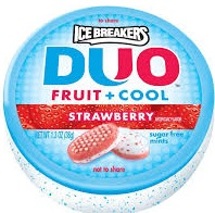 ICE BREAKER DUO MINTS STRAWBERRY