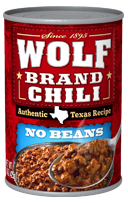 CHILI WOLF PLAIN 15 OZ
