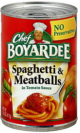 CHEF BOYARDE SPAG & MEATBALL 15 OZ