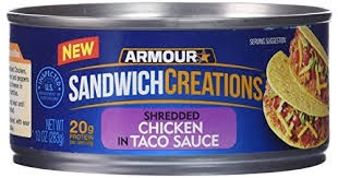 ARMOUR SANDWICH SPRD CHICKN N TACO