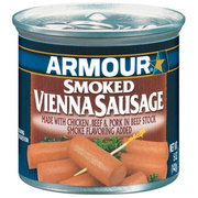 VIENNA SAUSAGE ARMOUR SMOKED 5OZ