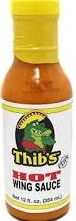 THIB'S HOT WING SAUCE 6/12 OZ