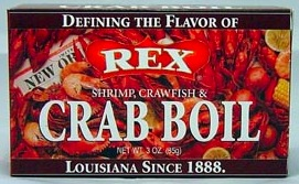 REX CRAB BOIL DRY BOX 12/3 OZ