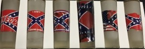 SHOT GLASS REBEL LONG FROSTED 6/PK