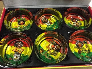 ASHTRAY BIG GLASS 6 PK