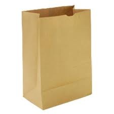 PAPER BAGS BROWN 1/6 GROCERY