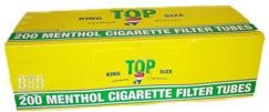 CIGARETTE TUBES TOP MENTHOL BOX/200