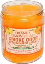 SMOKE ODOR CANDLE ORANGE/LEMON SPLS