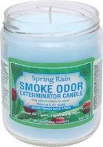 SMOKE ODOR CANDLE SPRING RAIN