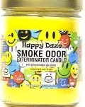 Smoke odor candle happy daze