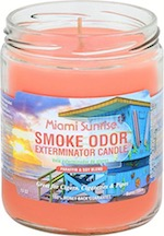 SMOKE ODOR CANDLE MIAMI SUNRISE