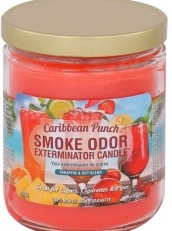Smoke odor candlE CARIBBEAN PUNCH