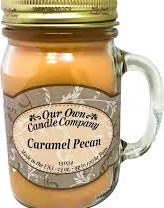 CANDLE MASON JAR CAR/PECAN EA