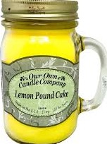 CANDLE MASON JAR LEMON POUND CAKE EA