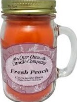 CANDLE MASON JAR PEACH EA