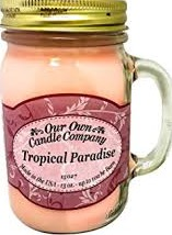 CANDLE MASON JAR TROPICAL PARADISE EA