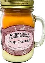 CANDLE MASON JAR ORANGE CREAMSICKLE EA