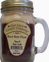 CANDLE MASON JAR ROOT BEER FLOAT EA