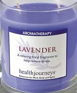 CANDLE AROMATHERAPY LAVNENDER EACH