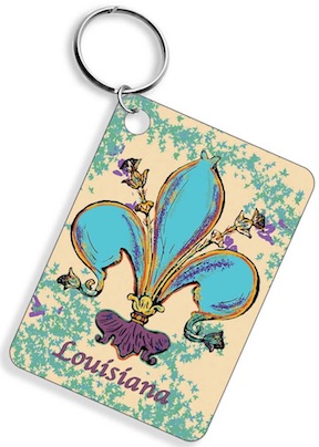 Fleur De Lis Key Chain Assorted w/DISPLAY 36