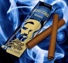 ZIG ZAG CIGAR WRAPS BLUE BERRY