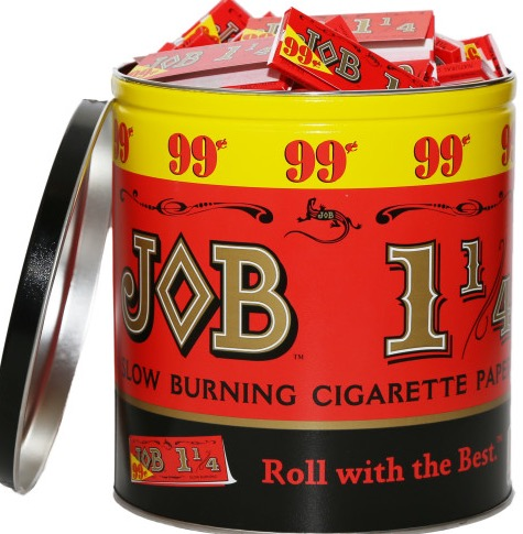 CIG PAPER JOB ORANGE 99 CENT TIN