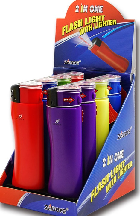 LIGHTERS GIANT 8 CNT W/FLASHLIGHT